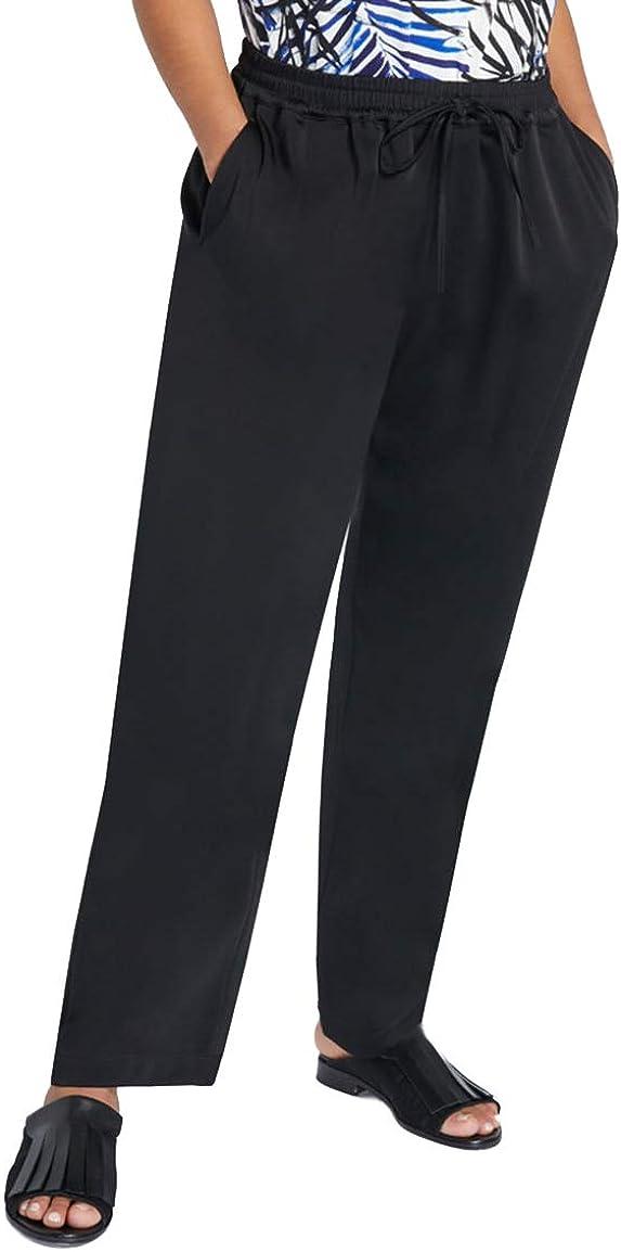 Marina Rinaldi Women's Reggia Casual Pants, Black