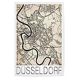 artboxONE Poster 30x20 cm Düsseldorf Städte Retro Map