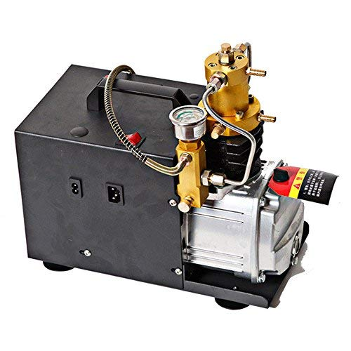 Hochdruckluftpumpe PCP Luftkompressor 30MPA 300BAR, 4500PSI Hochdruckluft Kompressor Elektrische LuftPumpe Mit leuchtendem Manometer Wasserpumpe mit Sauger-Regler