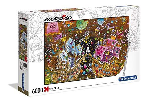 Clementoni 36527 Mordillo 'Der Kuss' – Puzzle 6000 Teile, High Quality Colletion, Geschicklichkeitsspiel für die ganze Familie, farbenfrohes Legespiel ab 10 Jahren