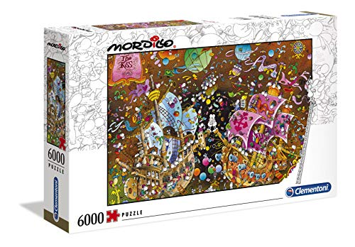 Clementoni - 36527 - Mordillo Puzzle - The Kiss - 6000 Pezzi - Made In Italy - Puzzle Adulti