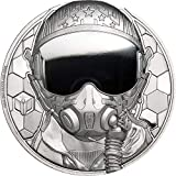 Power Coin Fighter Pilot Real Heroes 1 Oz Moneda Platino 250$ Cook Islands 2020