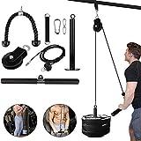 Fitness LAT y sistema de polea elevadora, máquina de cable de polea YYXT con pin de carga mejorado para fitness, entrenamiento, terapia física, entrenamientos en casa