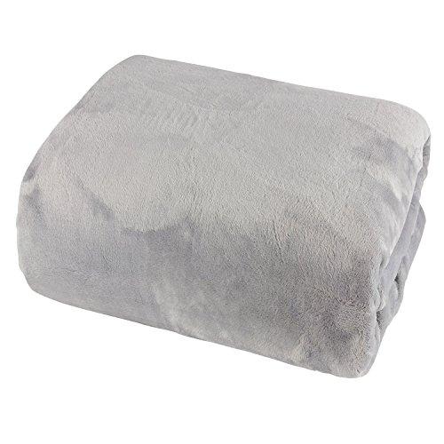 Mojawo Cashmere Touch Spannbetttuch 180x200cm 100% Polyester grau Spannbettlaken