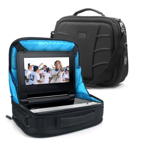 USA Gear Tasche für tragbare DVD-Player (portable DVD-Player) zum Befestigen am Autositz, passend für Bildschirmgrößen von 7 Zoll bis 10 Zoll
