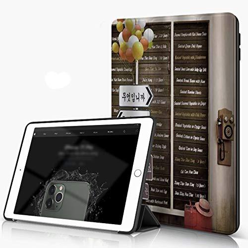 Carcasa para iPad 10.2 Inch, iPad Air 7.ª Generación,Globos Indicadores Sombrero para Colgar el teléfono,Incluye Soporte magnético y Funda para Dormir/Despertar
