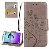 PROTECTIVECOVER + For Galaxy A3 (2017) / A320 Papillons Love Flowers gaufrage Etui à rabat...