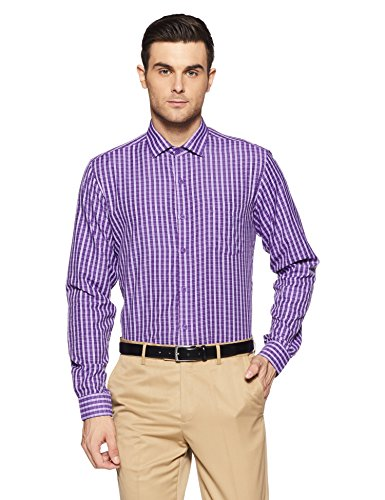 Excalibur Men's Formal Shirt (8907542557103_400016478112_40_Dk-Purple)