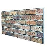 Borgo Italiano - Panel de imitación de ladrillo de EPS resinado, tamaño 100 x 50 cm, grosor 2 cm