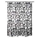 SENSEA - Textil-Duschvorhang - Kiesel- Grau - B.180 x H.200 cm