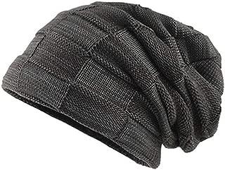 Men's Thicken Warm Knit Beanie Crochet Winter Knit Skull Slouchy Caps Hat