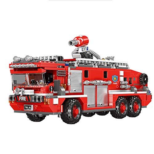 Fire Truck Toy STEM Building Set...