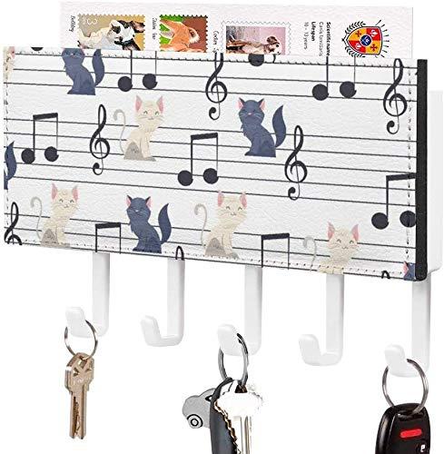 Soporte para llaves, gancho para llaves montado en la pared, patrón de tela de araña con linterna de calabaza de dibujos animados del día de Todos los Santos, soporte para correo de entrada a la pare