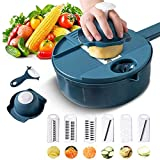 NC Vegetable Cutter Slicer Kitchen Tools Stainless Steel Plastic12in1 Fruit Potato Carrot Onion Cooking Gadgets Tool Accessories
