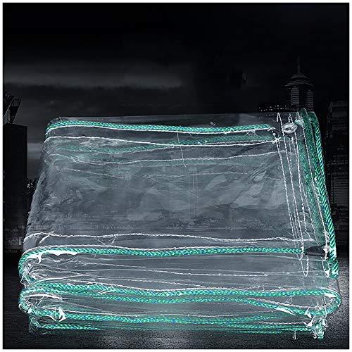 ZXCVASDF Tarp, Clear PVC Tarpaulin with Metal Grommets, Tear Resistance Waterproof 0.81mm, Tarpaulin for Deck Porch Patio Canopy or Outdoor Camping Rainproof or Sun,300cmx150cm