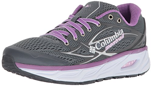 Columbia Women's Variant X.S.R. Trail Running Shoe, Grey ash, Phantom Purple, 9 B US