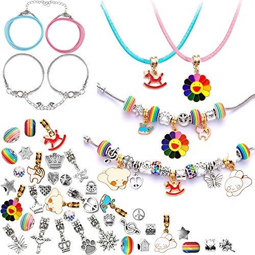 Regali per ragazze - Kit braccialetto con ciondoli fai-da-te, regali per ragazze 8-12 anni, set di gioielli artigianali calendario dell'Avvento per ragazze Calendario dell'Avvento