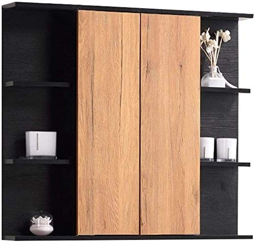 LAMTON Mueble de Espejo de baño Multiluador Pharmaceut Gabinete Pared Cortesía Espejo Soporte de Almacenamiento cosmético (Color : Marrón, tamaño : 70 * 14 * 70cm)