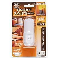 朝日電器 (業務用セット) ELPA LEDナイトライト スイッチ式 アンバー PM-LSW1(AM) (×10セット)