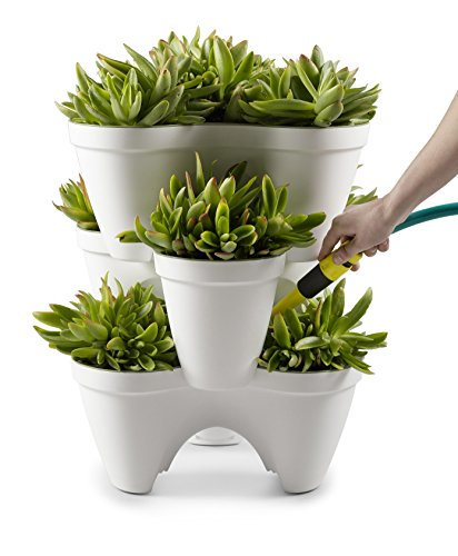 Keter – Macetero triple aplilable Ivy, Color Blanco