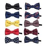 STOBOK 10 Pezzi Papillon pre-legato regolabile per cravatta in poliestere da ragazzo...