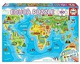 Educa- Mapamundi Monumentos Puzzle, 150 Piezas, Multicolor (18116)