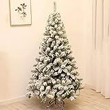 Pino De Navidad Artificial De Granja Rústica De Árbol De Navidad Blanco Flocado Decoraciones Navideñas De Interior Y Exterior - 180Cm