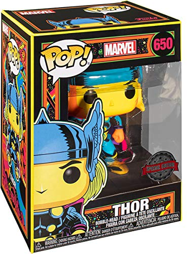 Funko- Pop Marvel Black Light Thor Juguete Coleccionable, Multicolor (48847)
