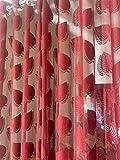 Riftree net Tissue Leaf Design Long Door Curtain for Living Room & Decoration