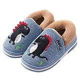 Westilely Kids Cute Dinosaur Slippers Girls Boys Winter House Shoes Slip On Indoor Warm Slippers