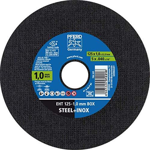 PFERD 69120939 1,0 mm Box Trennscheibe, 125 x 1,0 x 22,23 mm