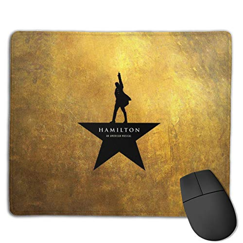 Game Mouse pad Computer Mouse pad Office Mouse pad Smooth Surface Non-Slip Rubber Base Mousepad, 18x22 cm (Hamilton)