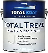 TotalBoat TotalTread Non Skid Deck Paint (White, Gallon) | Marine-Grade Anti Slip Traction Coating