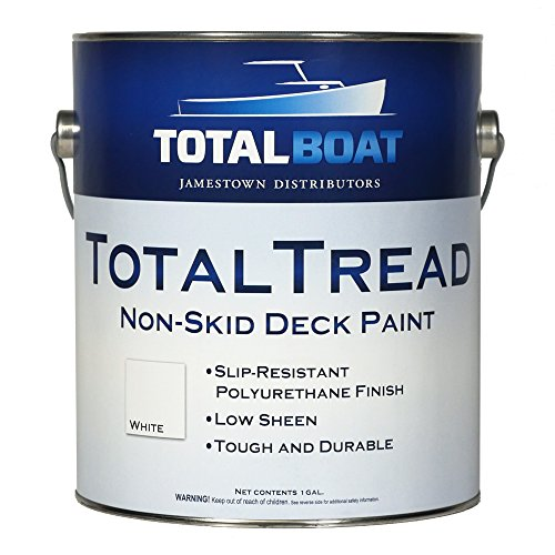 TotalBoat TotalTread Non-Skid Deck Paint, Marine-Grade Anti-Slip Traction Coating for Boats, Wood, Fiberglass, Aluminum, and Metals (Gray, Gallon)