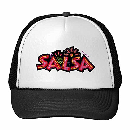 DIYthinker Gorra de béisbol México Cultura Elment Salsa Lema Gorro de Malla de Nylon Rosa del Sombrero Casquillo Ajustable para Adultos