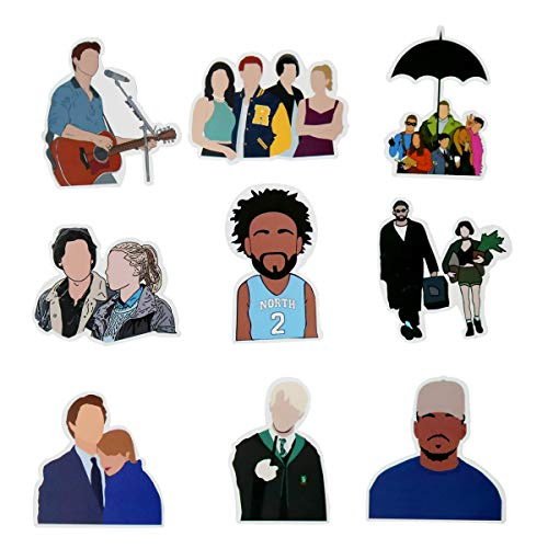 Personality Face Celebrity Stickers 50Pcs for Laptop Water Bottles No Face Characters Waterproof Durable Trendy Vinyl Decals Pack for Computer Luggage Travel Case Gift for Teens Girls Boys Kids