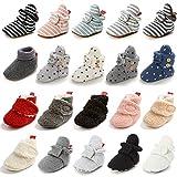LAFEGEN Baby Booties for Boys Girls with Soft Lining Non Slip Gripper Newborn Infant Slipper Socks...