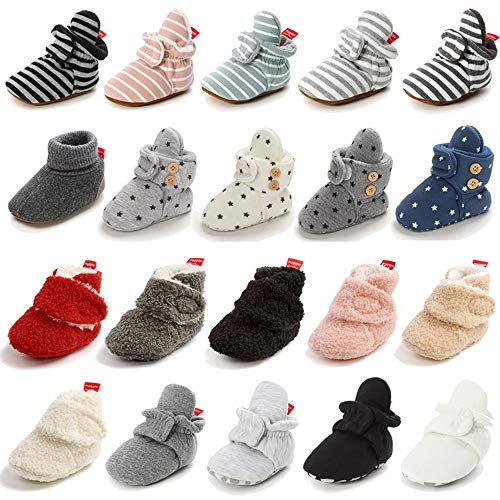 LAFEGEN Baby Booties for Boys Girls with Soft Lining Non Slip Gripper...