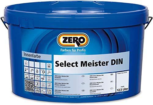 ZERO Select Meister DIN ALTWEIß 12,5 l, Innenfarbe, airlessgeeignet, stumpfmatt