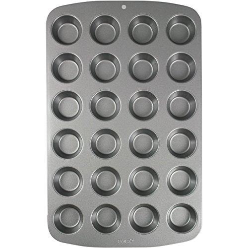 PME Molde para 24 Mini Magdalenas de Acero al Carbono Antiadherente