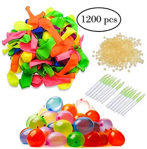 Globos de Agua - 12 Bolsas de 100 Globos de Agua, 6 Colores.