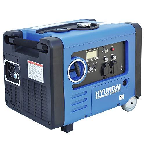 HYUNDAI Inverter-Generator HY4500SEi D (tragbarer Benzin Generator, Inverter Stromerzeuger mit 4.0 kW Maximalleistung, Notstromaggregat, Stromaggregat)