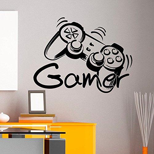customwallsdesign Wandtattoo Gamer, Controller-Aufkleber für Spielzone, Vinyl-Aufkleber