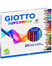 Giotto 5 x 235800 - Supermina Astuccio 24 Pastelli Colorati - 5 Confezioni