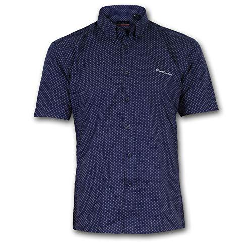 camicia uomo 5xl manica corta Pierre Cardin Uomo Camicia a Quadri o Stampata a Maniche Corte con Ricamo Esclusivo (6XL