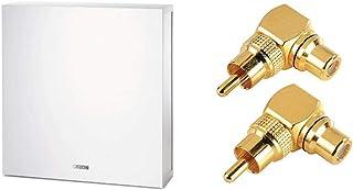 Canton ASF 75 SC aktiver Subwoofer (60/120 Watt) Weiss (Stück) & Hama Audio Adapter Cinch Anschluss Set 90°