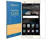 PREMYO Cristal Templado Protector de Pantalla Compatible con Huawei P8 Lite Dureza 9H Bordes 2,5D Sin Burbujas contra Arañazos