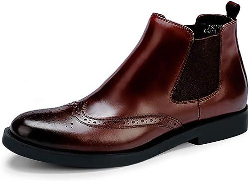 ZHRUI botas Chelsea con Bragas, Suela Blanda, duraderas, Antideslizantes, cómodas y Transpirables (Color   marrón, tamaño   EU 40)