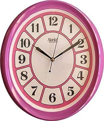 Ajanta Quartz Wall Clock 2867 (Pink)