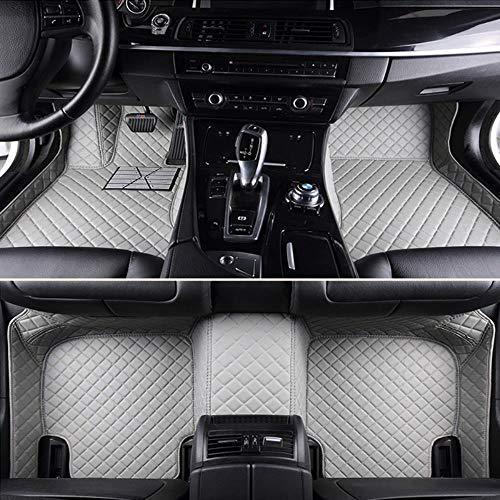 HIZH Custom Car Bodenmatten FüR Alle Ford Modelle Mondeo Fox Carnival Edge-Explorer Taurus S-MAX Autoteile, Rotwein